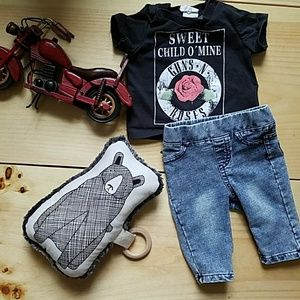 f029657c91d9 H&M Shirts & Tops | Euc Hm Guns N Roses Rock Band Outfit 12 Month Nb ...